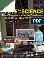 Fete Science 2013 Programme