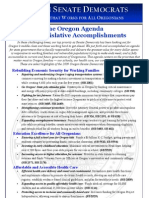 2009 Session Accomplishments