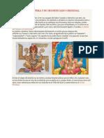 Ganesha 47 mm de madera tallada a mano gran gurú del grano de mala Hermoso Grande Ganesh