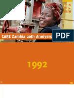 Care Zambia 20th Anniversary Book