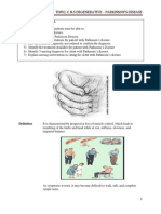 CNS DEGENERATIVE Parkinson Updated 3102013