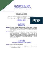 Reglamento No. 1894, Para la aplicación de la Ley No. 116-80