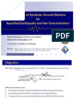 Simulation of Synthetic Ground Motionsfor Specified Earthquake and Site Characteristics