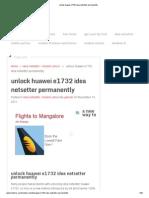Unlock Huawei e1732 Idea Netsetter Permanently