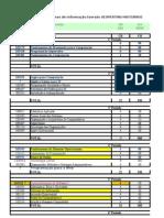 Grade Curricular de Sistemas de Informação - versão 6.0