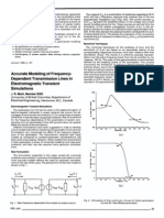 Accurate Modelling of Frequency Dependent Transmission Lines in Electromagnetic Transient Simulations