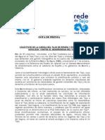 130903 NOTA DE PRENSA - Memorándum Tajo-2