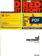 The Red Front - A Platform for Working Class Unity - Junius Publications - 1987