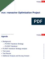 IRAT Handover Optimization Project