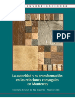 La autoridad y su transformación en las relaciones conyugales en Monterrey