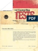 Lucas Generator and Control Box Tests 1963