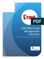CPE-PBX Fraud Management Guide and Checklist