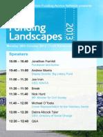 Funding Landscapes 2013 Programme