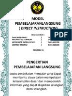 Ppt Model Pembelajaranlangsung