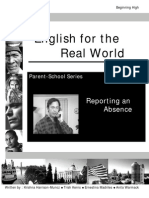 Reporting an Absence Student Workbook