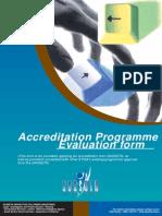 Accreditation Programme Evaluation Form