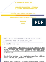 Art 129-LESÃO CORPORAL