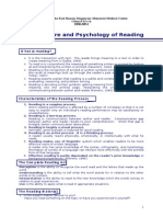 The Nature and Psychology of Reading