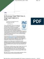Unilever and PG - Roger Martin