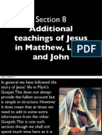 202, Life of Christ, section 8 Additional Teaching