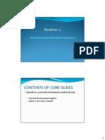 Seminar 2 - External Analysis