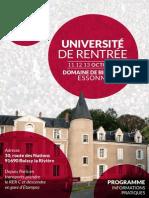 Bulletin d'Inscription avec Programme aux Universités d'Automne de Maintenant La Gauche les 11 12 13 octobre 2013 en Essonne