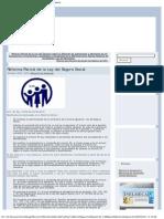 Reforma Parcial de La Ley Del Seguro Social 2010