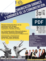 1er foro de la comunicación dinámica y dinámica de la comunicación