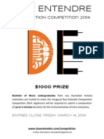 Duo Entendre Composition Competition Entry Form