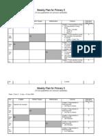 SC Curriculum Continuity Plan - Primary 5