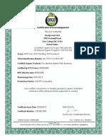 OTCO_Certificate Reedy Fork Organic Farm