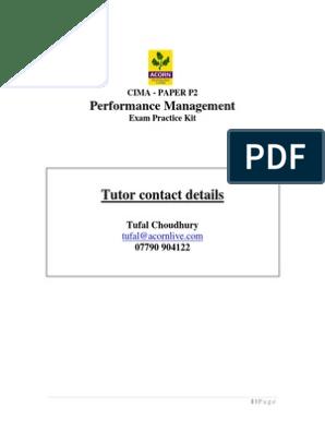 P2 Exam Practice Kit | Overdraft | Labour Economics
