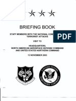 T3 B19 Briefing Book Fdr- NORAD-NORTHCOM Briefing Book for 11-13-03 Commission Staff Visit