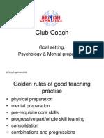 Club Coach - Psychology