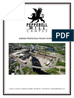 Pepperell Mill Campus Business Prospectus & Project Overview