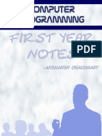 Computer Programming Notes