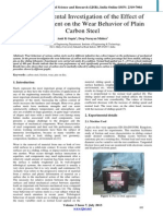 An Experimental Investigation of the Effect of Carbon Content on the Wear Behavior of Plain Carbon Steel