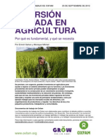 Oxfam - Inversion Privada en Agricultura