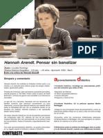 Cine | Hannah Arendt. Pensar sin banalizar