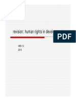 Human rights in development