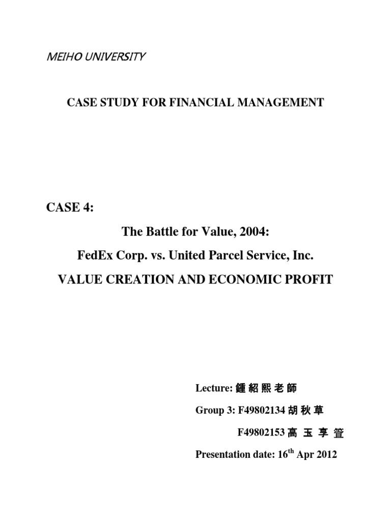 fedex vs ups case study