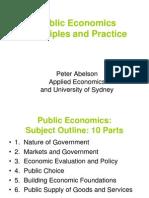 Public economics - Part 1
