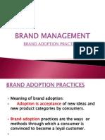 Brand Adoption Practices
