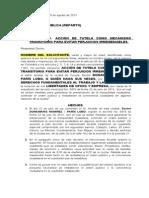ACCIÓN DE TUTELA DUEÑO DE ESTABLECIMIENTO COMERCIAL DE LA SÉPTIMA. 28 DE AGOSTO DE 2013. (1)