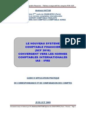 PDF COMPTABLE SCF TÉLÉCHARGER PLAN ALGERIE
