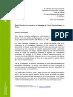 Lettre Greenpeace à François Hollande
