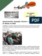 Apresentador Samuka Duarte e Kaio Márcio se filiam ao PEN