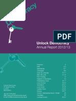 Unlock Democracy Annual Report 2013
