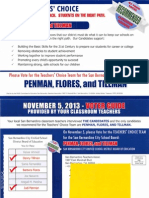 PAGE Committee for Education San Bernardino Teachers Association 2013 Mailer