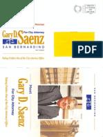 Gary D. Saenz City Attorney Flier 2013
